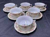 Vintage GOLD CASTLE Hostess Pattern Tea Or Coffee Cup & Saucer Japan Set Of 6