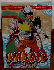 NARUTO BOÎTE 1 EDITION INTEGRA SANS CENSURE LOT 5 DVD NEUF ANIMATION SANS OUVRIR