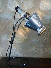 Ancienne lampe scientifique HANAU SOLLUX 1930. Projecteur atelier, industrielle