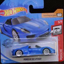 Hot Wheels Porsche 918 Spyder azul  5/5 2020 94/250 GHD22-D521