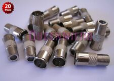 20 x F-type Quick Push-On Adapter Male - Female Coax Coaxial Cable Connector Lot