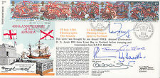 400th Anniv of the Armada  Full set of 5  Armada Stamps  Signed 6