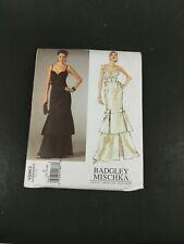 Vogue Sewing Pattern Badgley Mischka V2963 Size D Evening Dress 12 14 16 Uncut