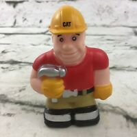 CAT Caterpillar Construction Worker Little People Figure With Hammer Toy