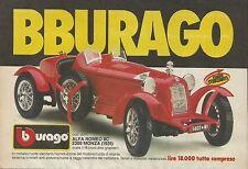 X1236 alfa romeo 8c 2300 Monza (1931) Bburago-Advertising 1986-Advertising