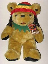 "Grateful Dead Dreadhead Bear 14"" Plush 1982 Jamaica World Music Festival Tag Toy"