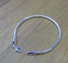 Bracelet European charm bracelet silver colour 18cm 7 inches