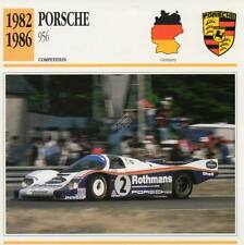 1982-1986 PORSCHE 956 Racing Classic Car Photo/Info Maxi Card