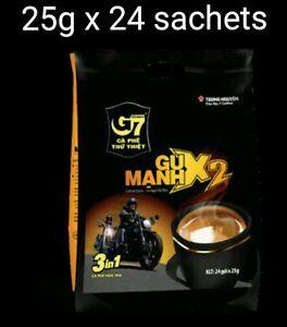 25g x 24 sachets Vietnam Trung Nguyen G7 STRONG X2 Instant Coffee 3in1 Coffeemix