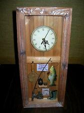 3-D Fishing Themed Shadow Box Clock; Cabin / Man Cave Display *Nice*