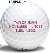 5 Dozen Titleist Pro V1x 2014 Mint Personalized Refinished Golf Balls Text/Image