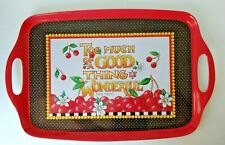 """New ListingMary Engelbreit Melamine Serving Tray Red,Black, Mae West Quote 19.5""""x 12"""""""