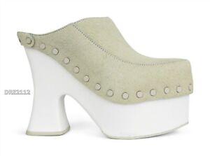 UGG x Eckhaus Latta El Boogie Platform Clog Heel Bone White Womens Size 7