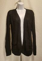 HIPPIE ROSE Sizes S M L XL Open Front Long Sleeve Black Cardigan Sweater