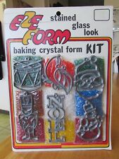 Eze Form Baking Crystal Forms Christmas Stained Glass Look Plastic Ornaments Set