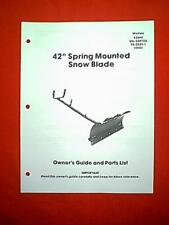 """GILSON TRACTOR 42"""" SNOW PLOW / SNOW BLADE 63644 GIL34470A 9526211 10242 MANUAL"""