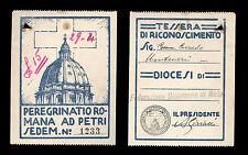 tessera PEREGRINATIO ROMANA AD PETRI diocesi di noto