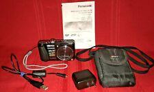 Panasonic DMC-ZS20 Lumix 14.1 MP Digital Camera 20x Zoom Memory Card Org Battery