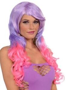 Wig Pony Tail Set Long Rave Fancy Dress Halloween Costume Accessory 3 COLORS