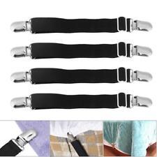 4 x Adjustable Bed Sheet Coverlid Holder Fastener Metal Gripper Suspender Strap