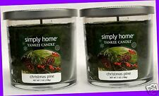 2 Jars Yankee Candle CHRISTMAS PINE 7 oz each Candle Tumbler Jar