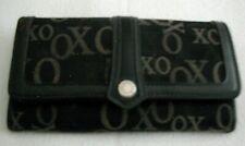 "Ladies XOXO WALLET Organizer Black/Gray Checkbook Credit Cards License 7½"" L EUC"