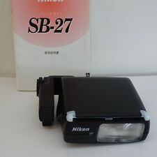[Exc+++] Nikon Speedlight SB-27 Shoe Mount Flash for Nikon Bounce Card +manual