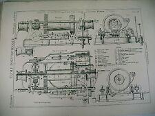 planche science école polytechnique treuil à vapeur système Perrin