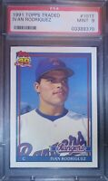 1991 Topps Traded #101T Ivan Rodriguez RC PSA 9 MINT Texas Rangers Rookie ⚾🔥📈