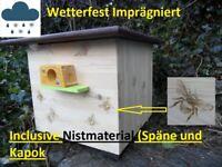 Hummelnistkasten Wachsmottensperre Hummelklappe Wetterfest Imprägniert Schauglas