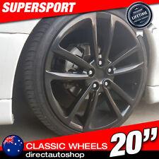 4x 20inch SUPERSPORT BLACK Wheel HOLDEN COMMODORE VL VK VT VY VZ VE VF SS ZB VXR