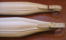 Deluxe Italian Accordion Straps Italcinte 304a White Leather padding + BackStrap