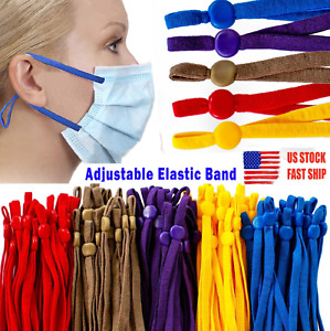 1/4 5mm Soft Sewing Elastic Bands Cord Rope with Adjustable Buckle for DIY Masks