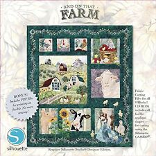 "ON THAT FARM SILHOUTTE CD WITH COMPLETE PATTERN SET, From Pine Needles ""ON SALE"""