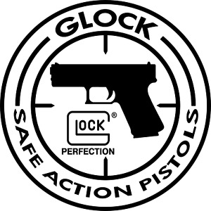 GLOCK Safe Action Pistols DECAL LOGO Type Die-cut Round Vinyl STICKER
