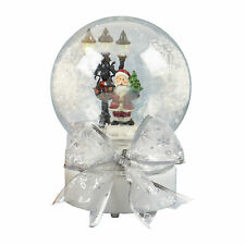 Christmas Musical Snow Globe - Lights Up - 19cm - Santa