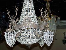 deer chandelier,stag chandelier, empire style chandelier,mule antler chandelier