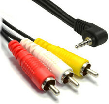 1M Metre Angled Angle 3.5mm Jack to 3 Triple RCA Phono Lead Audio Video AV Cable