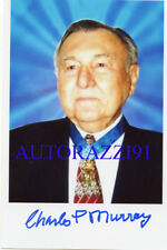 Charles Murray WWII Medal of Honor signed 4x6 PHOTO