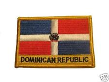 Dominican Republic Embroidered Flag patch-Iron on orSew