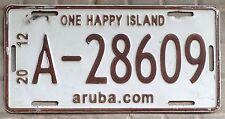 TARGA auto ORIGINALE Stato di ARUBA Isola Caraibi Targhe MONDIALI Americane USA