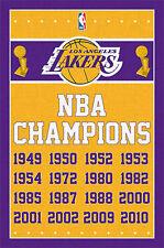 LOS ANGELES LAKERS - NBA CHAMPIONS POSTER - 22 x 34 BASKETBALL LOGO 6725