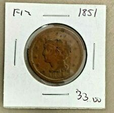1851 US One Cent Piece