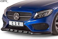 Cup Spoiler Front Ansatz Lippe Schwert für Mercedes C-Klasse 205 AMG-Line 14-18