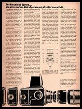 "1968 Paillard Inc. ""Hasselblad System"" Carl Zeiss Camera Lenses Vintage Print Ad"