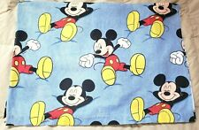 Vintage Disney Mickey Mouse Yawning Twin Flat Bed Sheet Kids Bedding Bedroom