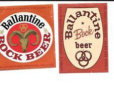 New listing 2 Different Ballantine Bock Beer Labels