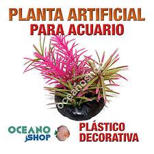 PLANTA ARTIFICIAL 10CM ROSA DECORACIÓN ACUARIO PECERA PLÁSTICO DIÁMETRO D86