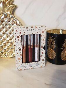 Anastasia Beverly Hills Liquid Lipstick Gift Set 3x 2.3g - NEW