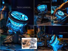 Iron Man Heart Micro ARC Reactor MK6 MKVI Scale 1:1 LED Toy Tony Stark Cosplay
